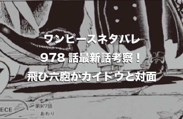 ワンピース978